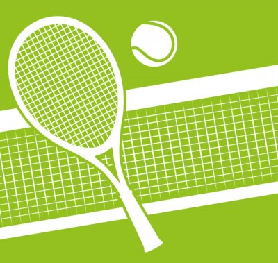 Naklejka Tenis sportu gry