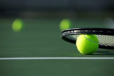 Naklejka Tennis Ball i Racket