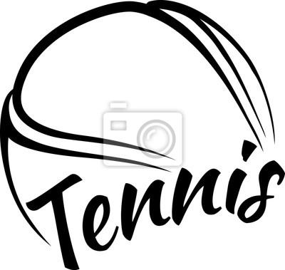 Naklejka Tennis Ball with Fun Text