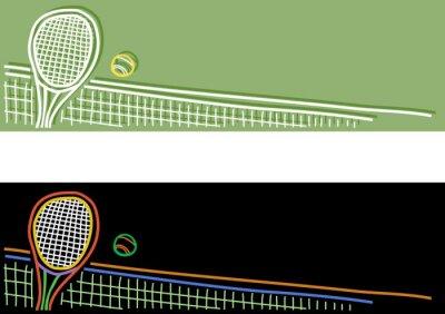 Naklejka tennis banner