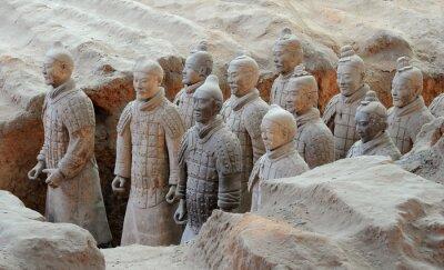 Naklejka Terakotowa armia wojowników w Xian, Chiny