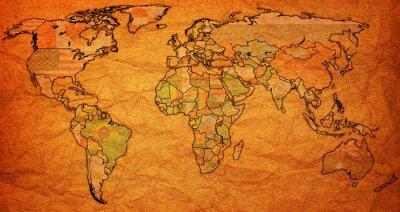 Naklejka Terytorium surinam na mapie świata
