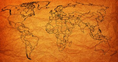 Naklejka terytorium Węgier na mapie świata