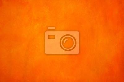 Naklejka Tętniące życiem, monochromatyczne, pomarańczowe i żółte tło. Nasycone, ciepłe akryle na papierze. Zamknij się zdjęcie ręcznie malowane abstrakcyjne malowanie.