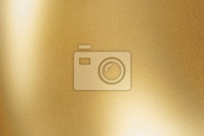 Naklejka Texture of gold metallic polished glossy with copy space, abstract background