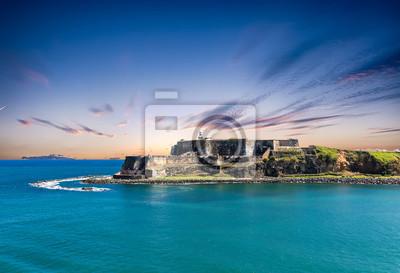 Naklejka The old fort of El Morro on the coast of San Juan Puerto Rico