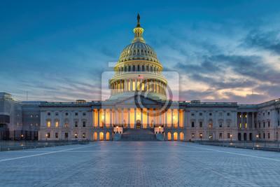 Naklejka The United States Capitol building at sunset, Washington DC, USA.