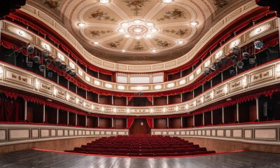 Naklejka Theater building is 200 years old, a view from the inside