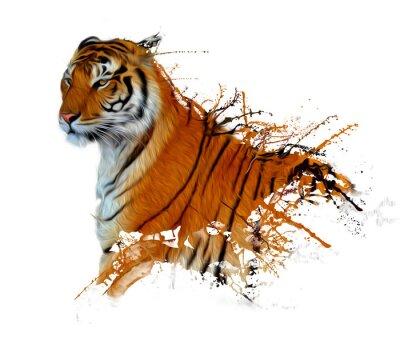 Naklejka tiger powitalny