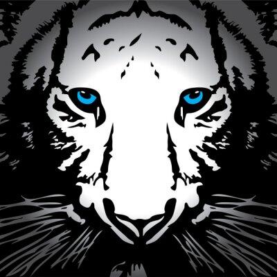 Naklejka Tiger vector