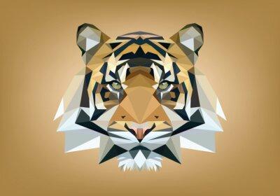 Naklejka tigre low poly