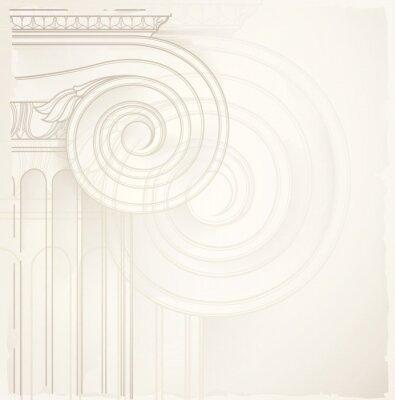 Naklejka tło architektoniczne, kolumny jonowe