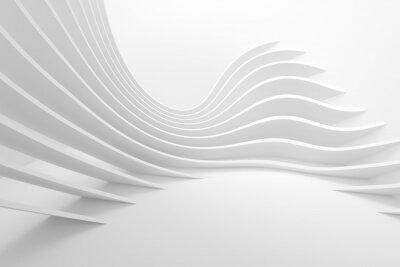 Naklejka Tło białe architektury Circular. Nowoczesny projekt budowlany