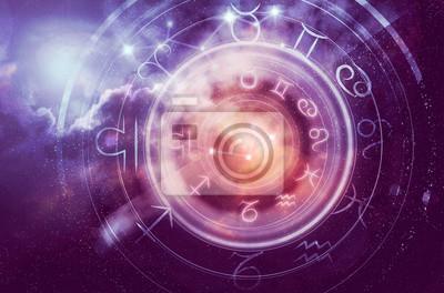 Naklejka tło horoskop astrologia