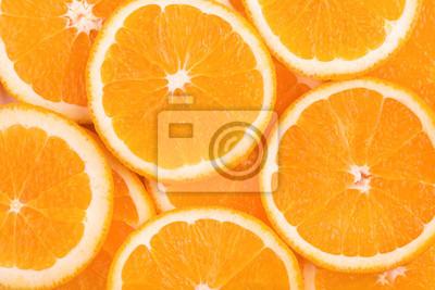 Naklejka tło plastry pomarańczy