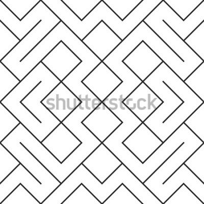 Naklejka Tło wektor wzór. Nowoczesna stylowa powtarzalna geometryczna tekstura z wzorem rombu i węzłów.