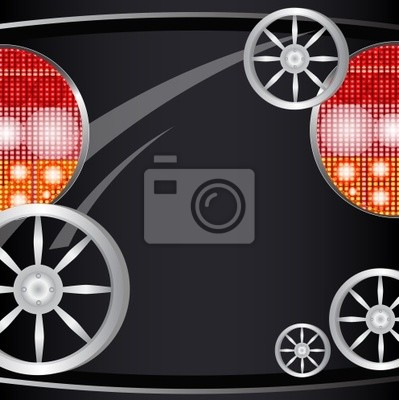 Tło z części samochodu, światła reflektorów