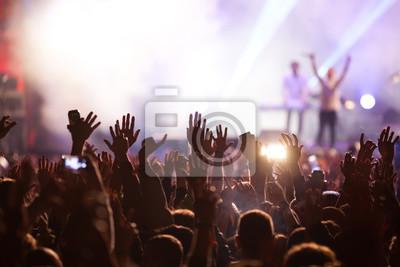Naklejka Tłum na koncercie