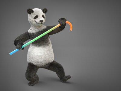 Naklejka tłuszczowych Personage postaci zwierząt miś panda danicng trzciny