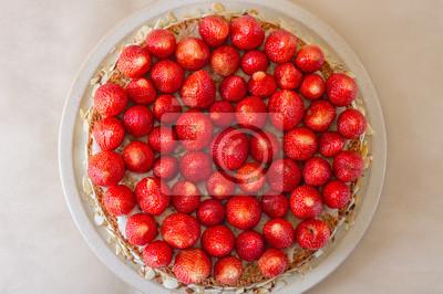 Naklejka Tort truskawkowy