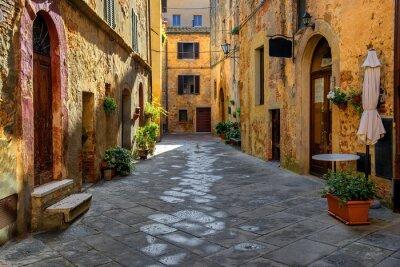 Naklejka Toscania, Włochy, Montepulciano, Zaułek