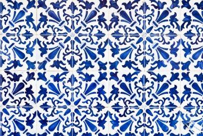 Naklejka Traditionelle Azulejos w Lissbon, Portugalia