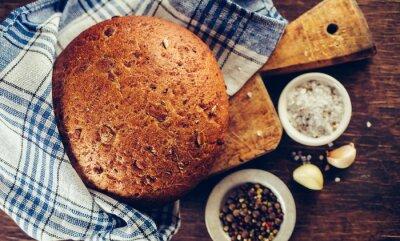 Naklejka Tradycyjny chleb z przyprawami