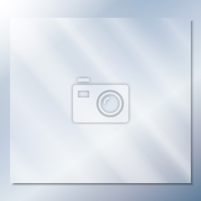Naklejka transparent glass on a blue background vector