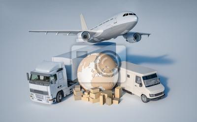 Naklejka Transport na całym świecie
