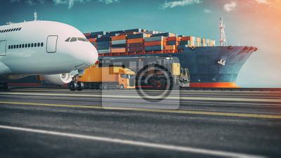 Naklejka Transportation and logistics.