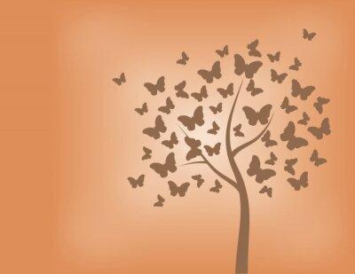 Naklejka Tree made of butterflies