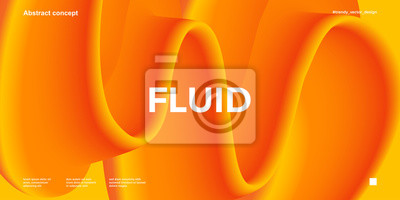 Naklejka Trendy design template with fluid and liquid shapes. Abstract gradient backgrounds. Applicable for covers, websites, flyers, presentations, banners.