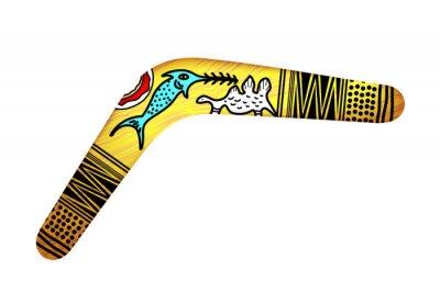 Naklejka Tribal Boomerang na białym tle. Tribal style. Vec