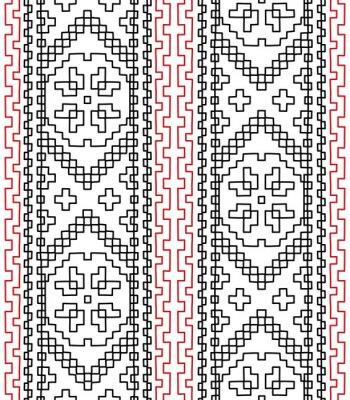 Naklejka Tribal etniczne szwu wzór