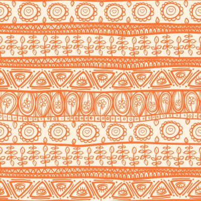 Naklejka tribal orange ornament