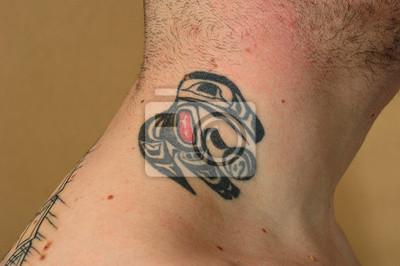 Tribal Tatuaż Ptaka Na Szyi Naklejki Redro