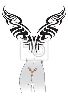 Tribal Tatuaż Wzór Naklejki Redro