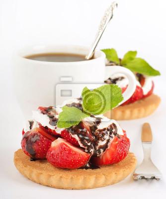 Truskawka z mięty i czekolady, kawa