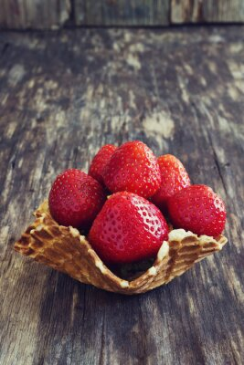 Naklejka truskawki ogrodowe