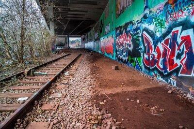 Naklejka Tunel im Geisterbahnhof München