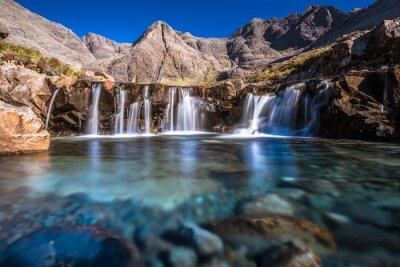 Naklejka Turkusowe baseny w Szkocji