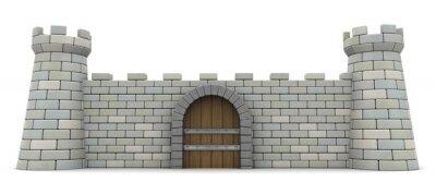 Naklejka twierdza ściana