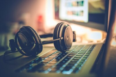 Naklejka Tworzenie muzyki cyfrowej