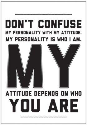 Naklejka Typografia motywacyjny plakat z cytatem na białym tle