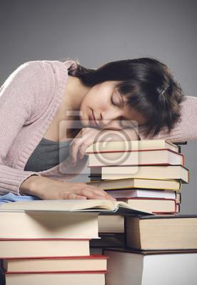 uczeń zasnął