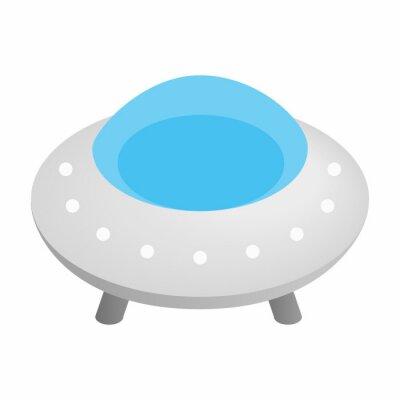 Naklejka UFO 3d izometrycznej ikona