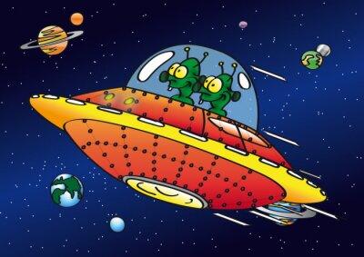 Naklejka UFO i Cudzoziemców