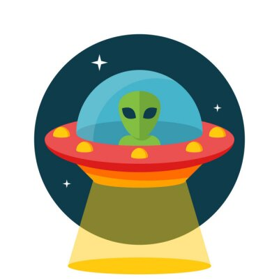 Naklejka UFO, Niezidentyfikowany obiekt latający