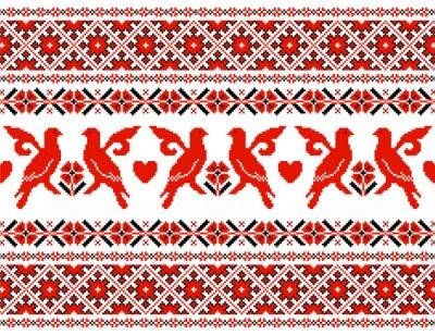 Naklejka ukraiński ozdoba