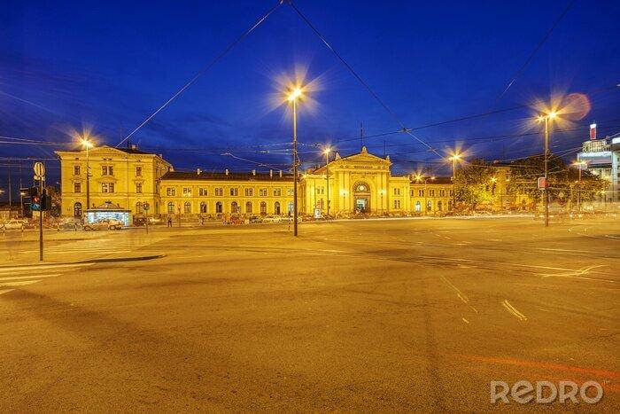 Naklejka Ulica Belgrad w pobliżu starego dworca